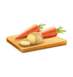Organic vegetables carrots vector image