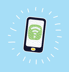 phone wifi icon vector image