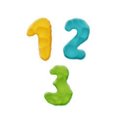 Plasticine clay numbers vector