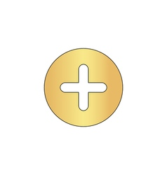 Plus computer symbol vector