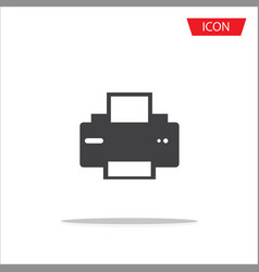 printer icon document printing symbol isolated on vector image