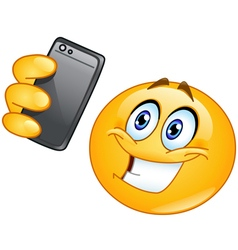 Selfie emoticon vector