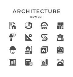 Set icons of architectural vector