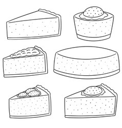 Set of cheese cake vector
