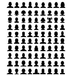 Silhouettes avatar vector