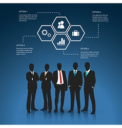 Silhouettes of Business man vector image