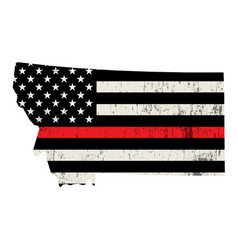 state montana firefighter support flag vector image