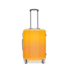 suitcase on a white background vector image