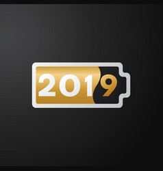 the new year black background vector image