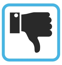 Thumb Down Icon In a Frame vector image