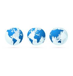 Transparent world globe maps planet earth green vector