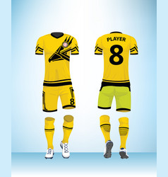 Uniform football design template vector