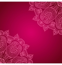 Vinous background with lace ornament vector