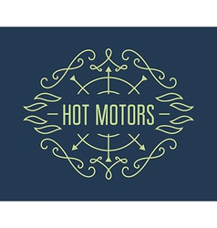 Vintage motorcycle labels badges or design vector
