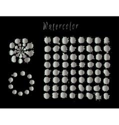 Watercolor silver splashes set vector image
