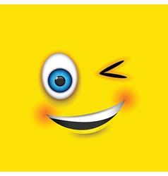 winking square emoji vector image