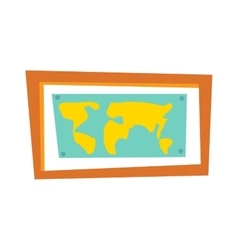 World map countries picture frame travel geography vector image
