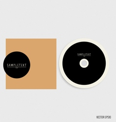 Blank compact disk with cover mock up template vector image