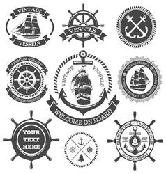 Nautical Set 4 vector image vector image