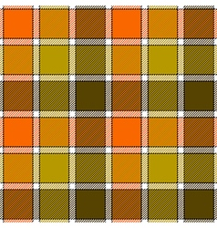Orange clay marsh check plaid seamless pattern vector image vector image