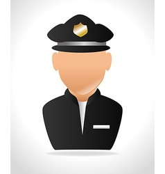 police officer design vector image vector image