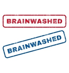 Brainwashed rubber stamps vector