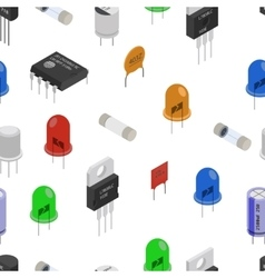 Isometric Electronic components pattern vector image
