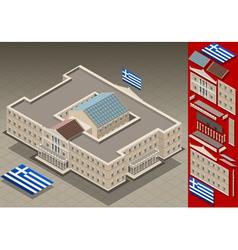 isometric Greek Parliament vector image