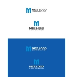 melody logo letter m vector image vector image