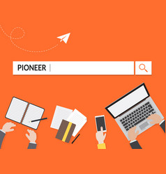 pioneer search graphic for business vector image vector image
