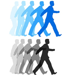 Business man walking forward action vector image vector image
