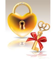 Lock and key vector image vector image