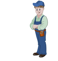 The workman or handyman vector image