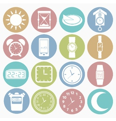 white icons time vector image vector image