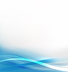Abstract background with transparent blue wave vector image vector image