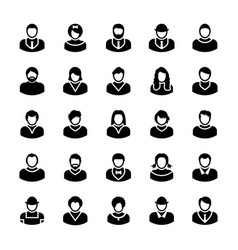 avatars glyph icons 11 vector image vector image