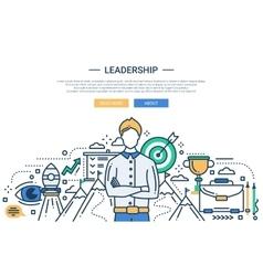 Leadership line flat design website banner vector image vector image