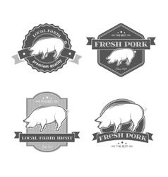 Pork labels vector image