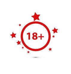18 age warning stamp flat vector image