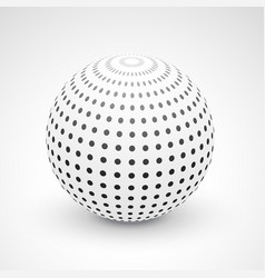 3d sphere made with black dots vector image