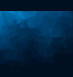 abstract polygonal background dark blue mosaic vector image