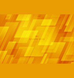 abstract square yellow technology template design vector image