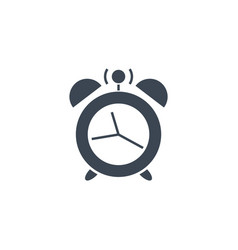 alarm clock related glyph icon vector image