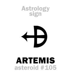 astrology asteroid artemis vector image