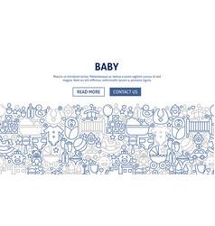 Baby banner design vector