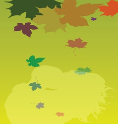 background with leaves and couple vector image