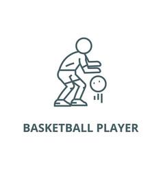 basketball player line icon basketball vector image
