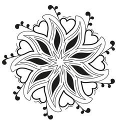 Beautiful delicate flower mandala tattoo vector