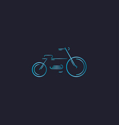bicycle gradient line vector image