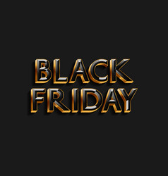 black friday text design for banner poster vector image